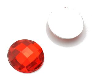 Камень клеевой  16 мм красный упаковка  500шт