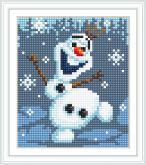 Алмазная вышивка АВ 5089 12,5*14,5см Снеговик полная зашивка
