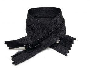 Застежка молния брючная 20 см черная упаковка 50шт