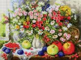 Алмазная вышивка АВ 2010 Цветы полная зашивка