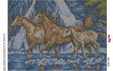 Алмазная вышивка АВ 3023 25,3*35,2см Лошади полная зашивка