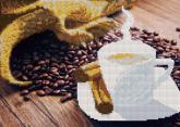 Алмазная вышивка АВч 3040 Кофе частичная зашивка