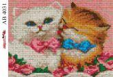 Алмазная вышивка АВ 4031 19*23см Котята полная зашивка