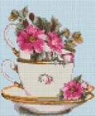 Алмазная вышивка АВ 4046 19*23см Цветы полная зашивка