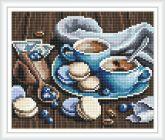 Алмазная вышивка АВ 4055 19*23см Макаруны полная зашивка
