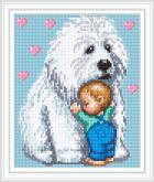 Алмазная вышивка АВ 4064 19*23см Дружба полная зашивка