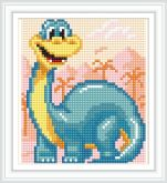 Алмазная вышивка АВ 5073 12,5*14,5см Динозавр полная зашивка