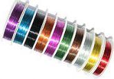 Проволока для бисера цветная 0,3 мм маленькая 10м