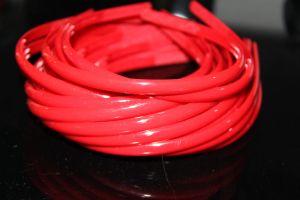 Обруч  0,8см   округлый красный  упаковка  50шт