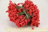 Цветочная тычинка 0,5см на проволоке красная 480сшт