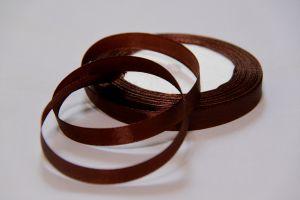 Лента атласная 1см. №32 коричневая упаковка