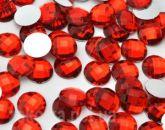 Камень клеевой  красный 13*18 овальный