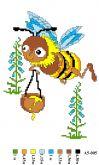 Набор для вышивки нитками А5 -005 Пчелка