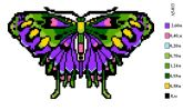 Набор для вышивки нитками А5 -013 Бабочка