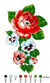 Набор для вышивки нитками А5 -014 Роза