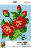 Алмазная вышивка АВ 5006 12,5*14,5см Розы полная зашивка