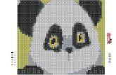 Алмазная вышивка АВ 5011 12,5*14,5см Панда зашивка