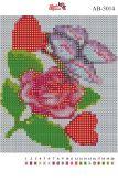 Алмазная вышивка АВ 5014 12,5*14,5см Роза полная зашивка