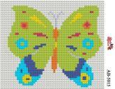 Алмазная вышивка АВ 5015 12,5*14,5см Бабочка полная зашивка