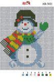 Алмазная вышивка АВ 5021 12,5*14,5см Снеговик полная зашивка
