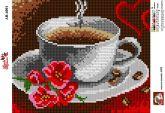 Алмазная вышивка АВ 4001 19*23см Кофе полная зашивка