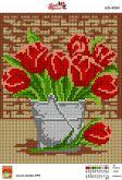 Алмазная вышивка АВ 4004 19*23см Тюльпаны полная зашивка