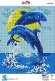 Алмазная вышивка АВ 4005 19*23см Дельфины полная зашивка
