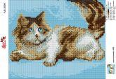Алмазная вышивка АВ 4008 19*23см Кошка полная зашивка