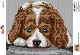 Алмазная вышивка АВ 4015 19*23см Собака полная зашивка