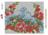 Алмазная вышивка АВ 4047 19*23см Голуби полная зашивка