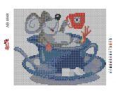 Алмазная вышивка АВ 4048 19*23см Мышка полная зашивка