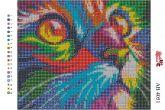 Алмазная вышивка АВ 4051 19*23см Котейка полная зашивка
