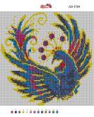 Алмазная вышивка АВ 4504 25*25см  Жар птица полная зашивка