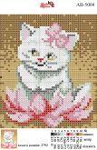 Алмазная вышивка АВ 5004 12,5*14,5см Кошечка полная зашивка
