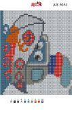 Алмазная вышивка АВ 5054 12,5*14,5см Кораблик полная зашивка