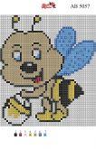 Алмазная вышивка АВ 5057 12,5*14,5см Пчелка полная зашивка