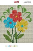 Алмазная вышивка АВ 5060 12,5*14,5см Цветок полная зашивка