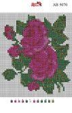 Алмазная вышивка АВ 5070 12,5*14,5см Роза полная зашивка