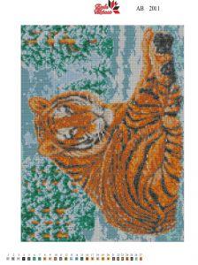 Алмазная вышивка АВ 2011 Тигр полная зашивка