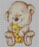 Алмазная вышивка АВ 4032 19*23см Мишки полная зашивка