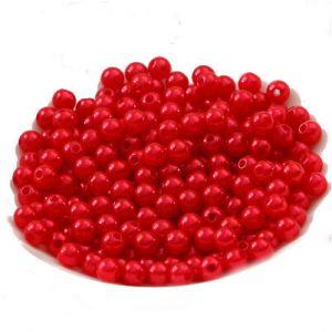 Жемчуг искусственный красный 6мм 500 гр