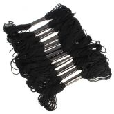 Мулине для вышивания 50 шт., черного цвета
