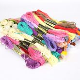 Мулине для вышивания 100 шт., цветное