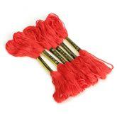 Мулине для вышивания 50 шт., красного цвета