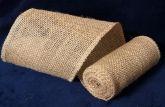 Лента из мешковины домотканая 10 см (2м) Упаковка 6шт