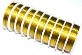 Проволока для бисера золото 0,3 мм, маленькая 10м