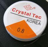 Силиконовая нитка резинка прозрачная упаковка (10м)