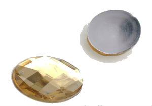 Камень клеевой коричневый 13*18 овальный упаковка 500шт