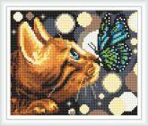 Алмазная вышивка АВ 4057 19*23см Кошка полная зашивка
