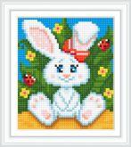 Алмазная вышивка АВ 5075 12,5*14,5см Кролик полная зашивка